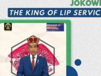 "Meme ""Jokowi The King Of Lip Service"" yang diunggah BEM UI"